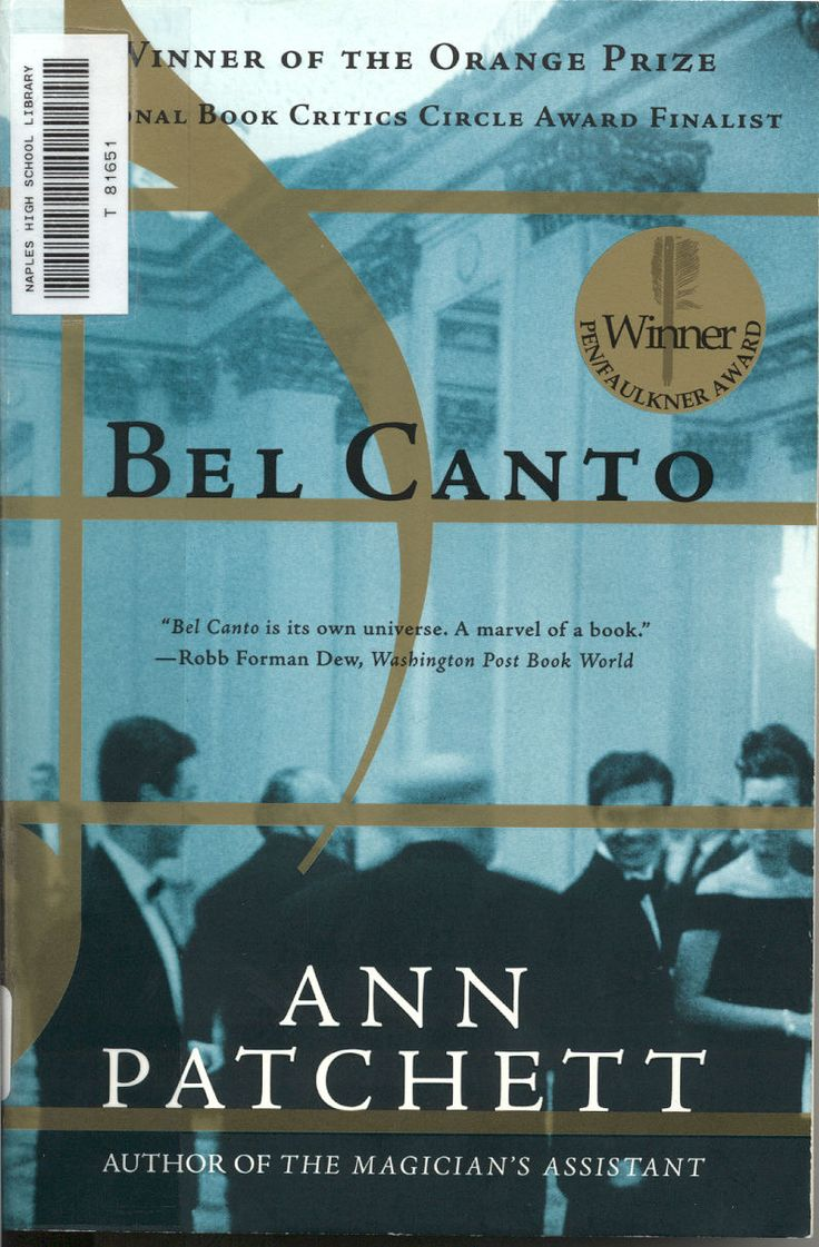 Bel Canto - Ann Patchett    Amazing read. Highly recommended: Worth Reading, Books Jackets, Books Club, Books Worth, Anne Patchett, Favorite Books, Bel Canto,  Dust Covers, Great Books