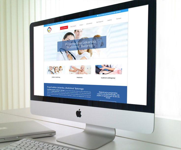 Projekt strony internetowej dla nowo otwartej przychodni.