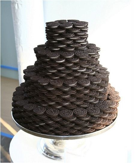 Oreo tiered wedding cake - this would be AWESOME! Double-stuf!: Fun Recipes, Ideas, Dreams Cakes, Food, Wedding Cakes, Cookies Cakes, Birthday Cakes, Grooms Cakes, Oreo Cakes