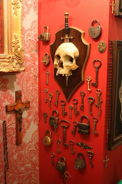 Skeleton keys !  I love this! I will have a wall in my house where all my keys will be:)