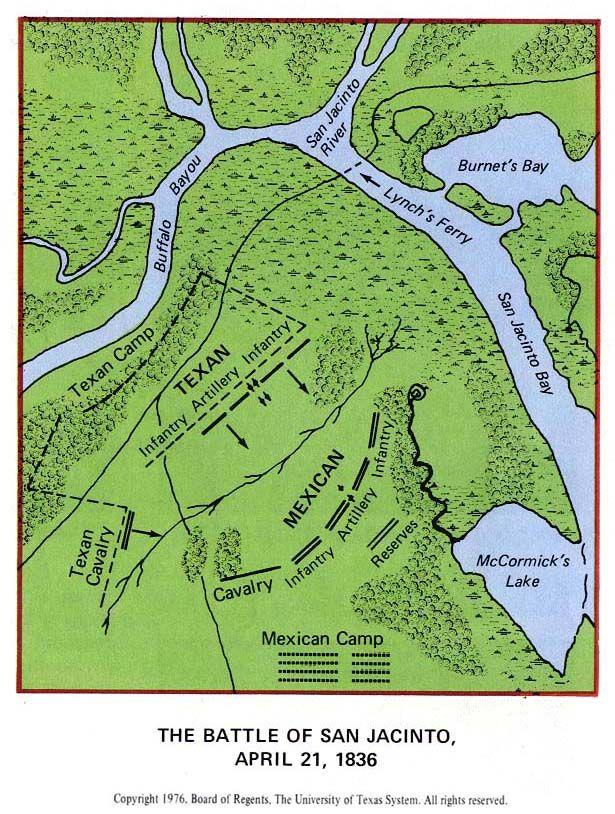 San Jacinto, Texas 1835 map - Google Search