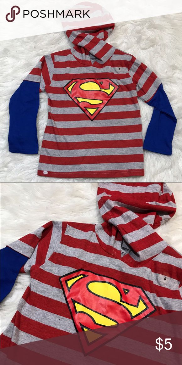 ✨ Superman Top💜 Please see pics for details Shirts & Tops Tees - Long Sleeve