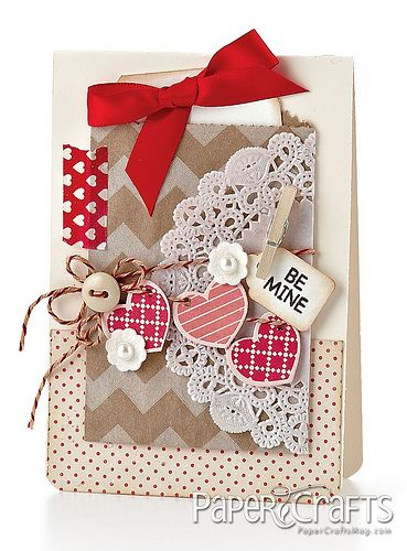 At least on Valentines I must make a gushy over-the-top gorgeous and un-postage-friendly card!!!; (buy Forever stamps NOW!!!) Melissa Phillips - Paper Crafts magazine