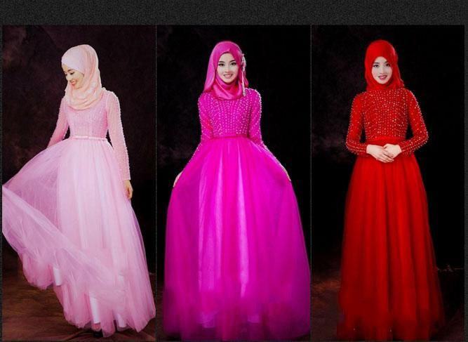 2015 Hijab Gowns Long Sleeves Muslim Wedding Dresses Sheath Camo Wedding Gowns With Beads Sequins Crystals…