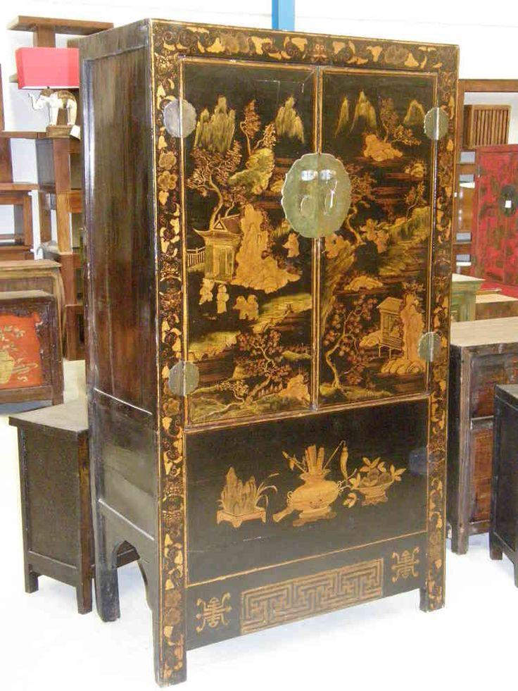 Armario boda chino negro - Muebles chinos - muebles orientales - decoración oriental China