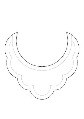 bib necklace templates printed Oct. 2013