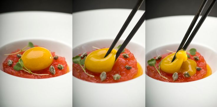 """""""Molecular gastronomy  is a discipline practiced by both scientists and food professionals that studies the physical and chemical processes..."""