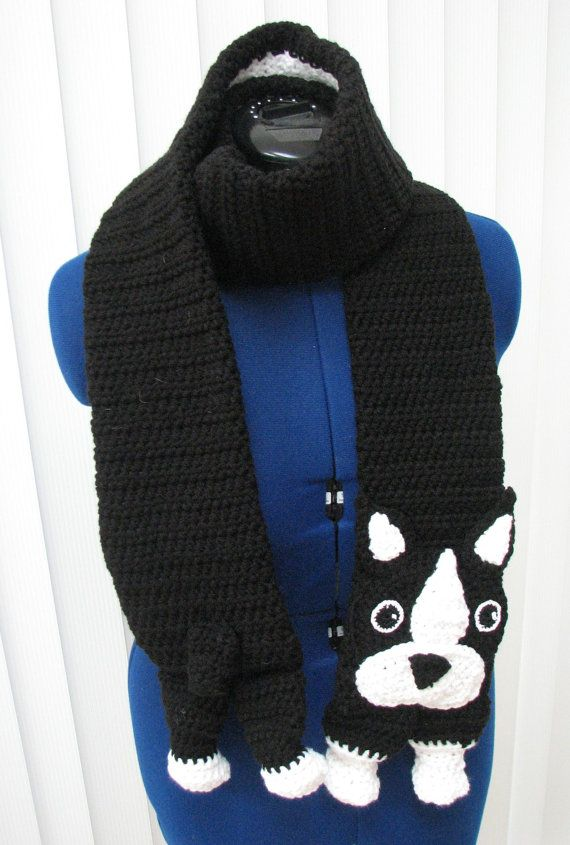 Hey, I found this really awesome Etsy listing at https://www.etsy.com/listing/156268279/boston-terrier-scarf-and-tote-set