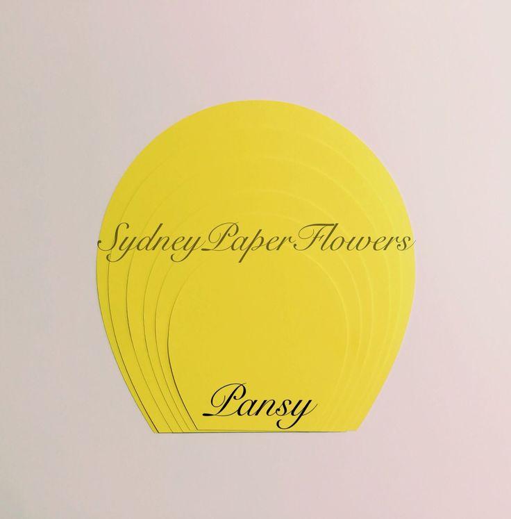 paper flower petal template