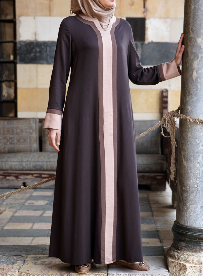 A lovely Long hijabi-friendly dress. No Layering necessary! | Afrah Dress from shukrclothing.com