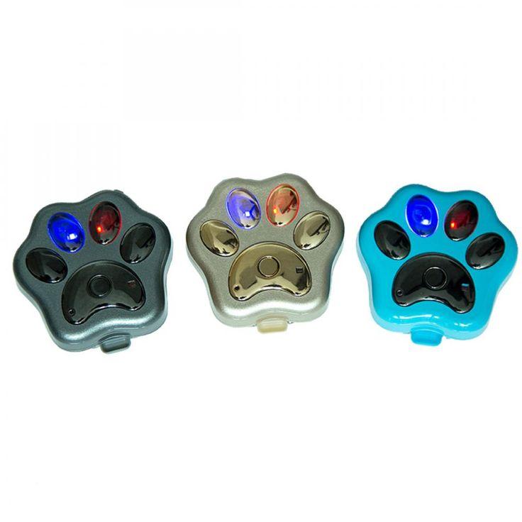 Персональный Портативный Собака Paw Форма Реального Времени Смарт GPS Tracker Синий Черное Золото для Дополнительного