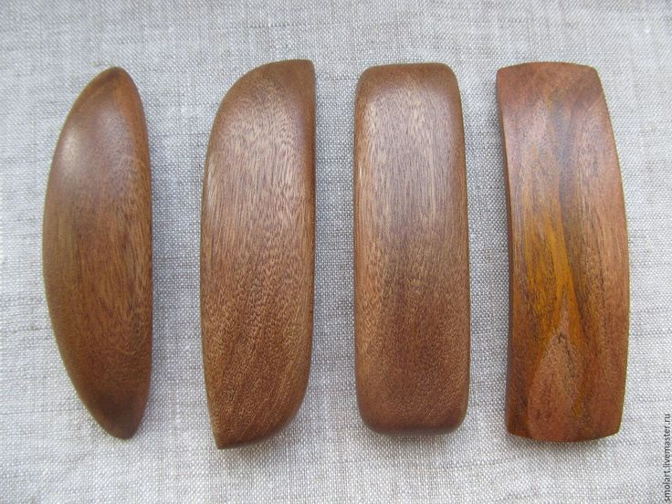 Купить Заколки-автомат из дерева (бразильский орех) - коричневый, дерево, дерево натуральное, заколка-автомат