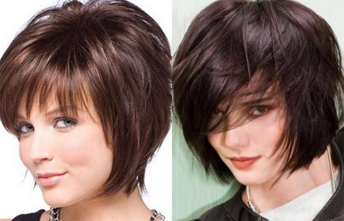 Стрижки женские каскадные короткие волосы