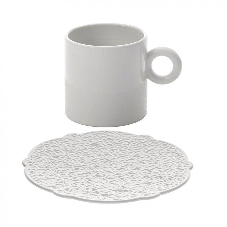TAZZA DA CAFFE' BIANCA | Home > Cucina > Tè, Caffè e Latte > Tazze da caffè con sottotazza ...