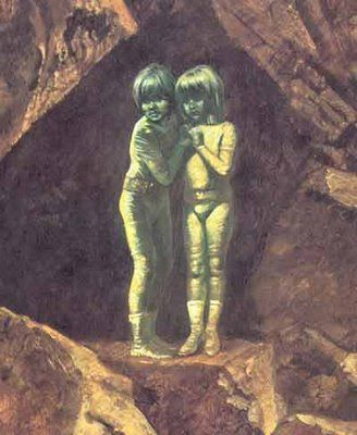In 1887, two small children were found alone near the town of Banjos, Spain. But these were no ordinary children who had been lost or abandoned by parents. Upon investigation, they found a small boy and girl, scared and crying, huddled near the entrance to a cave. Their language was unknown to the workers - it certainly wasn't Spanish. More mysterious still, they wore clothes made of a strange metallic cloth... and their skin had an odd green tint.