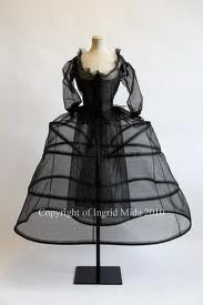 chemise, corset and panniers