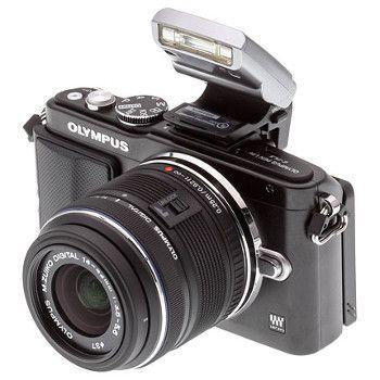 Appareil photo hybride avec objectif Olympus PEN E-PL5 + 14-42 mm IIR + Flash FL-LM1
