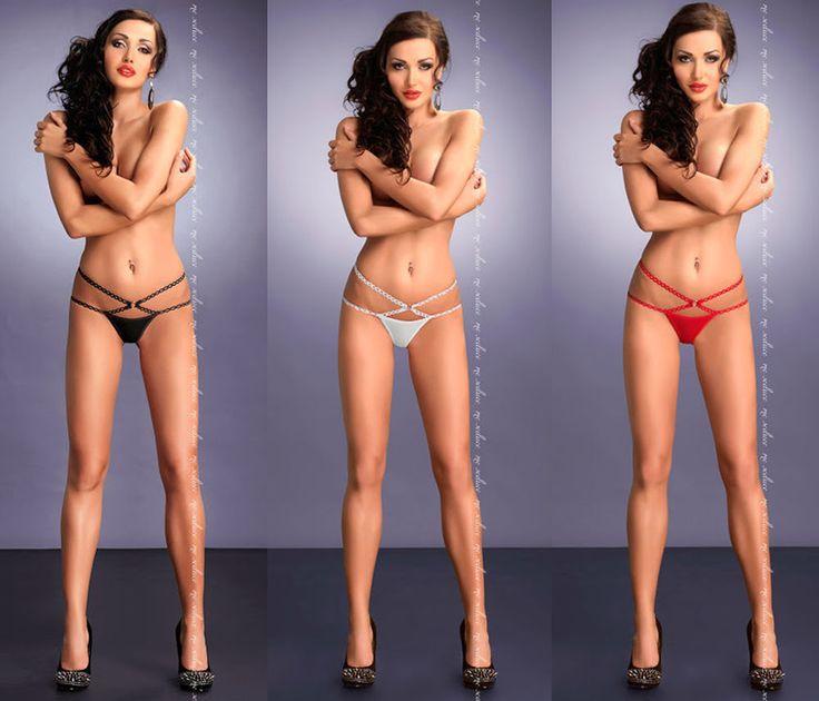 Damen String-Tanga Palmira von MeSeduce Dessous schwarz rot weiß S/M - XXL/XXXL