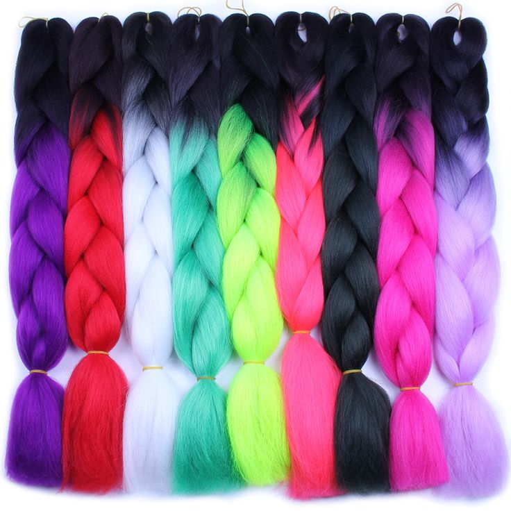 FALEMEI 24Inch 6Packs/Lot 100g/pack Ombre Two Tone Kanekalon Jumbo Braiding Hair synthetic afro Expression braid hair  Extension #Affiliate