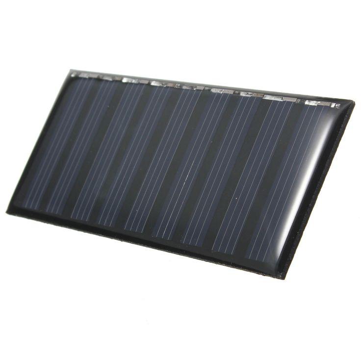 Venta caliente 5 V 0.5 W 100 mAh Silicio Policristalino Epoxi Panel Solar accionado DIY modelos para cargar el teléfono móvil o pequeña batería