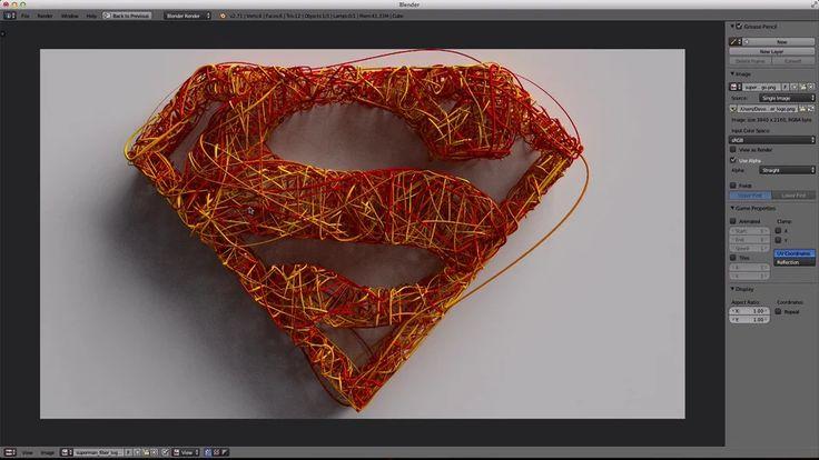 Superman Fiber Mesh Logo For Blender 2.71 on Vimeo