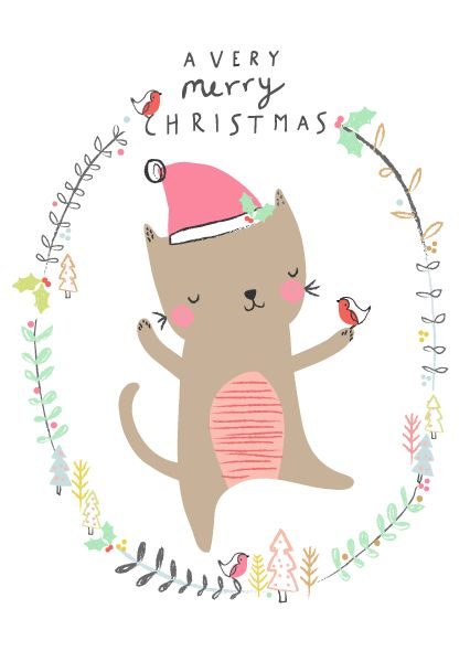 This in more of our style! I really like the border idea / having an adorable animal in a wreath / border.