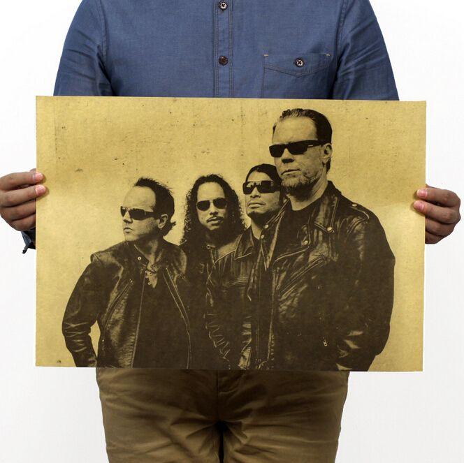Металл тяжелый металл рок-группа METALLICA ностальгические ретро плакаты крафт Старинные плакат 51*35.5 см