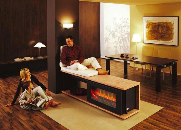 небольшие гостиные зоны с каминами