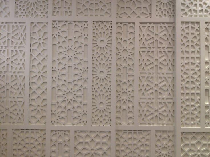 Sliding doors with Islamic patterns