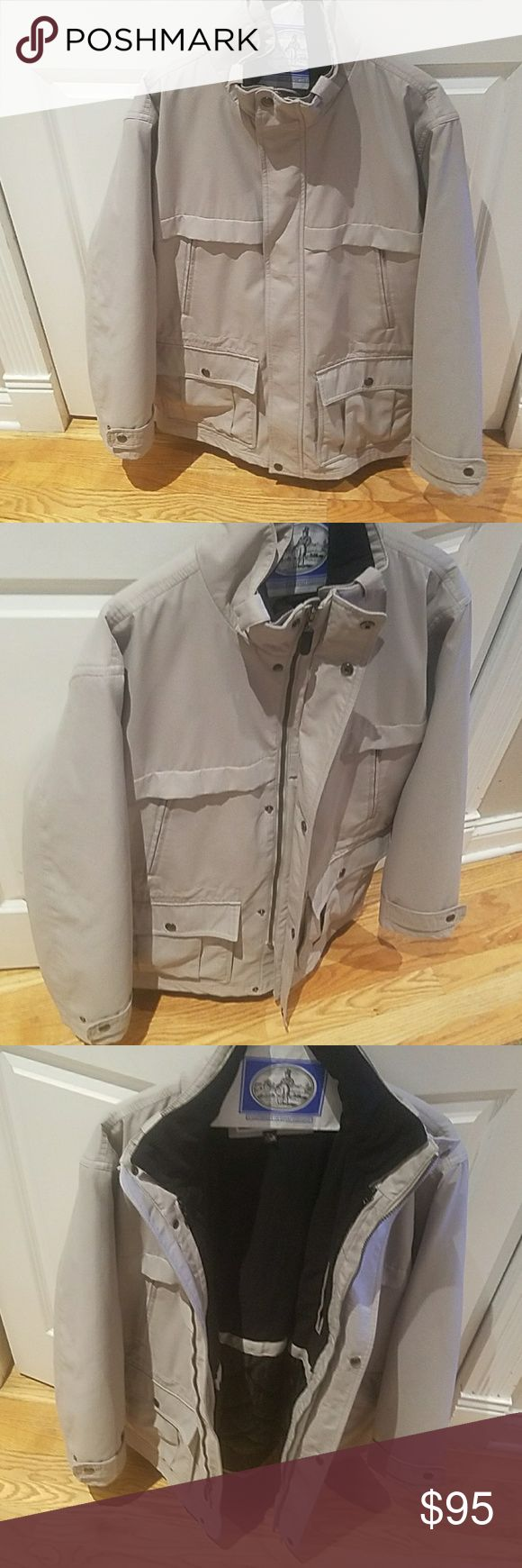 Mens Michael Kors Winter Jacket - Medium Amazing, Like New, Michael Kors Winter Jacket - Medium. (I'm typically a large and it fits perfect) Its a tan shade, in excellent condition. Ive worn it maybe 5 times. Six exterior pockets.   Has a liner for warmth that can be unzipped and removed.   Great deal, make an offer! Michael Kors Jackets & Coats