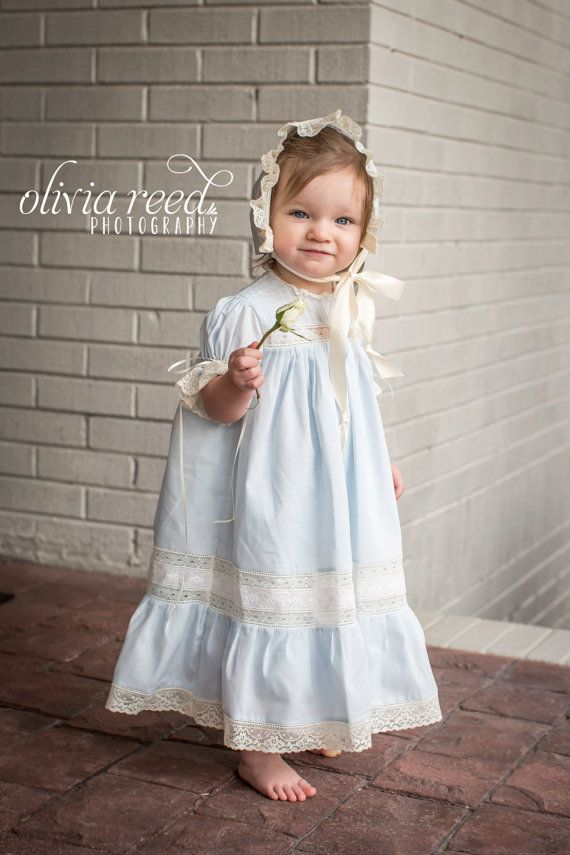 Handmade Girl's Heirloom Dress and by justforbabyonline on Etsy