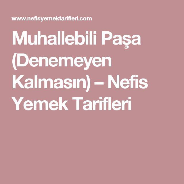 Muhallebili Paşa (Denemeyen Kalmasın) – Nefis Yemek Tarifleri