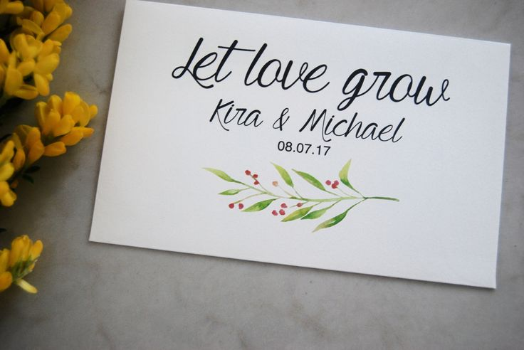 Wedding favor seeds, for your big day! Custom made envelope with wildflower seeds inside. Can be personalized by your theme and your budget! All envelopes are made by BlissWeddingsAus