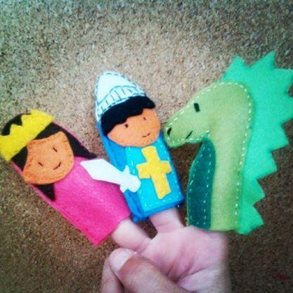 Titelles de dit fetes amb feltre. St Jordi, la princesa i el drac
