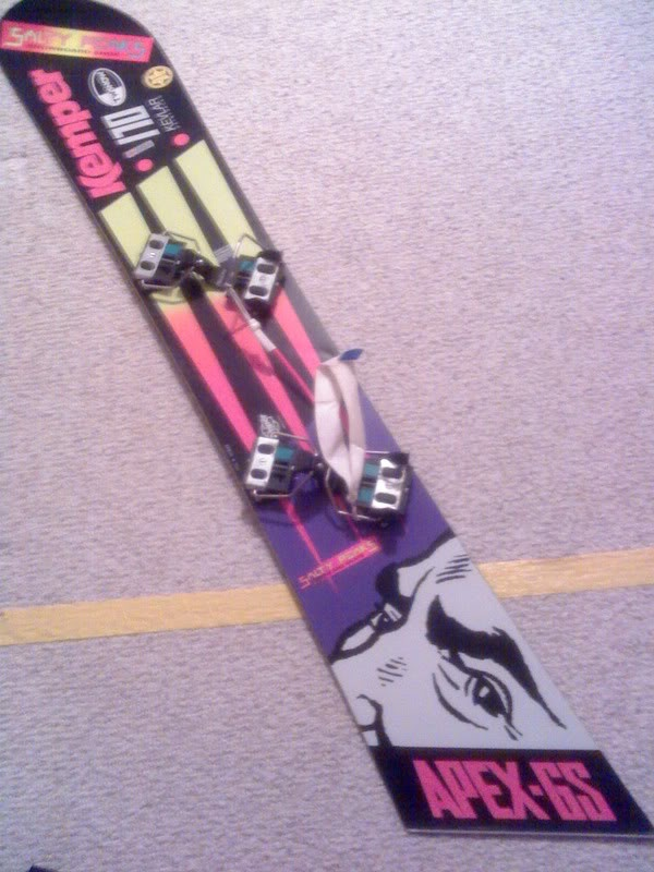 I finally found a picture of my old race snowboard.