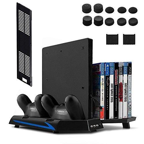 Oferta: 23.99€ Dto: -40%. Comprar Ofertas de Keten PS4 Slim/ PS4 Soporte Vertical con Ventilador 2 en 1, Puerto de carga, Almacenamiento para Juegos y Puerto con 3 Espaci barato. ¡Mira las ofertas!