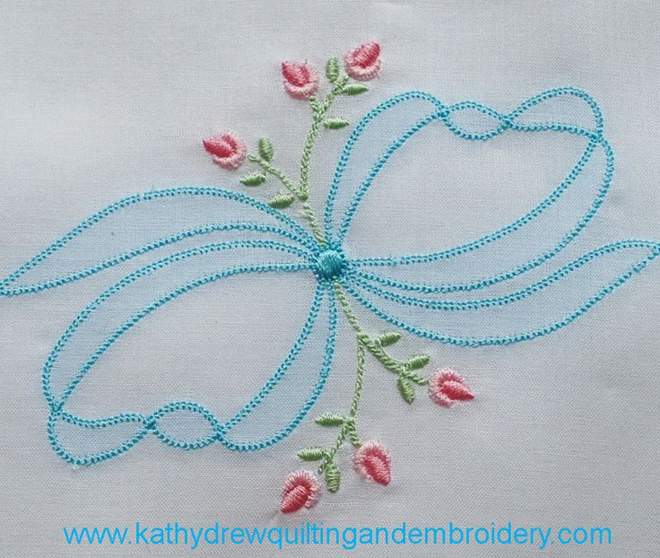 """Machine Embroidery Design """"Bow with Rosebuds"""""""