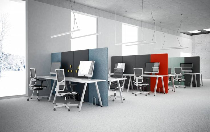 Inspiracja od Elzap na dziś.  #elzap #aranżacja #wnętrze #biuro #design #biurko #krzesło #panele #lampa