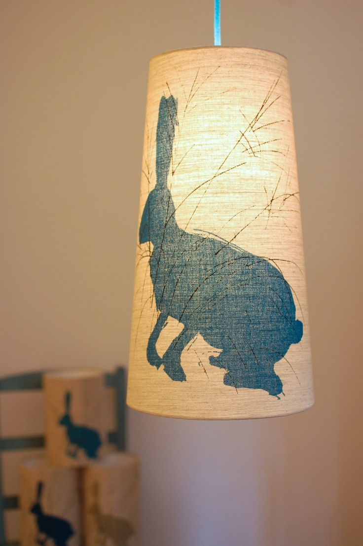 28 best lampshades images on pinterest lamp shades lampshades and small linen lampshade with a screen printed hare in the grass figure it out aloadofball Choice Image