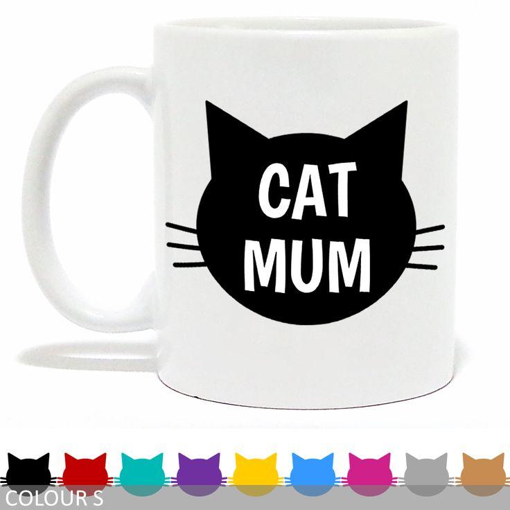 Cat Mum Mug - Cat Face