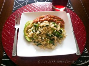 Experience the Caribbean. Try Spinach & Rice with Corned Beef