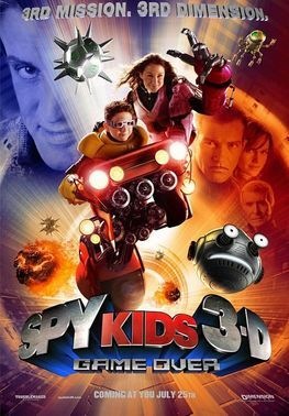 Spy Kids 3-D: Game Over (2003): Carmen's caught in a virtual reality game designed by the Kids' new nemesis, the Toymaker (Stallone). It's up to Juni to save his sister, and ultimately the world #movie