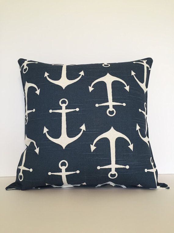 Anchor pillow nautical pillows nautical decor by BabyEtiquette
