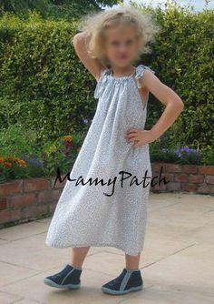 Chemise de nuit enfant, Patron couture gratuit