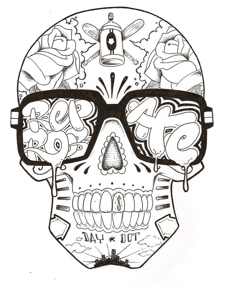Graffiti Girl Characters | Graffiti Characters Skull Images & Pictures - Becuo