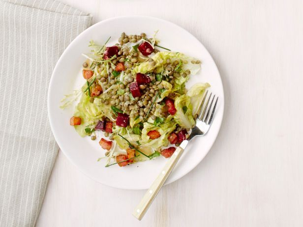 Lentil Salad with Beets and Bacon from #FNMag: Food Network, Beets, Recipes Food, Easy To Follow Lentils, Lentils Salad, Bacon Recipes, Network Kitchens, Side Dishes Recipes, Lentil Salad