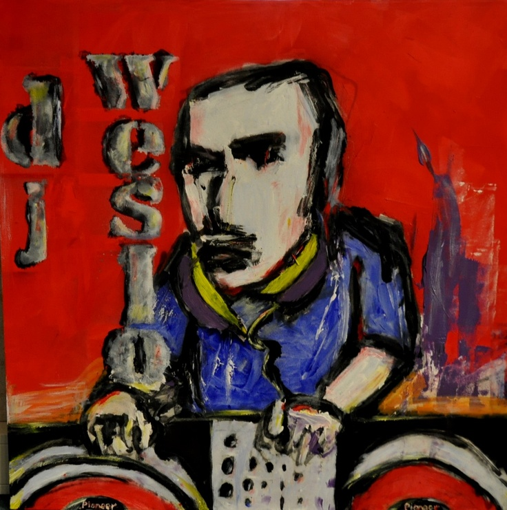My dad made a painting for me (Herman Brood style)