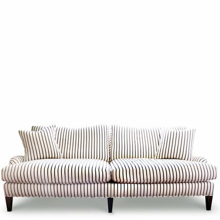 Sheldon Navy and White Striped Sofa