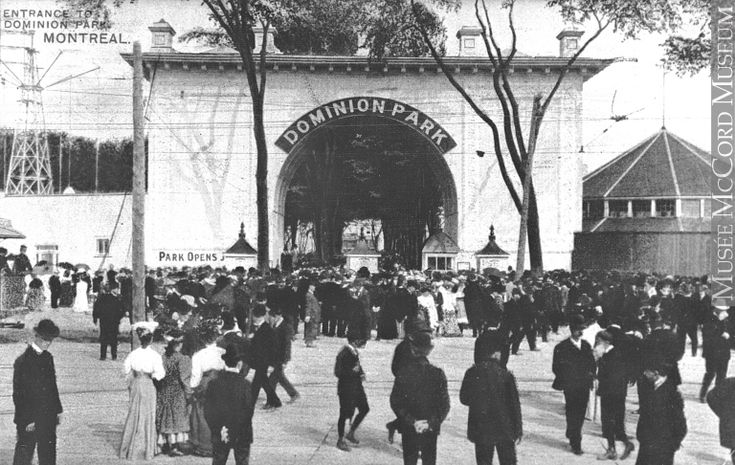 Entrée du parc Dominion vers 1971