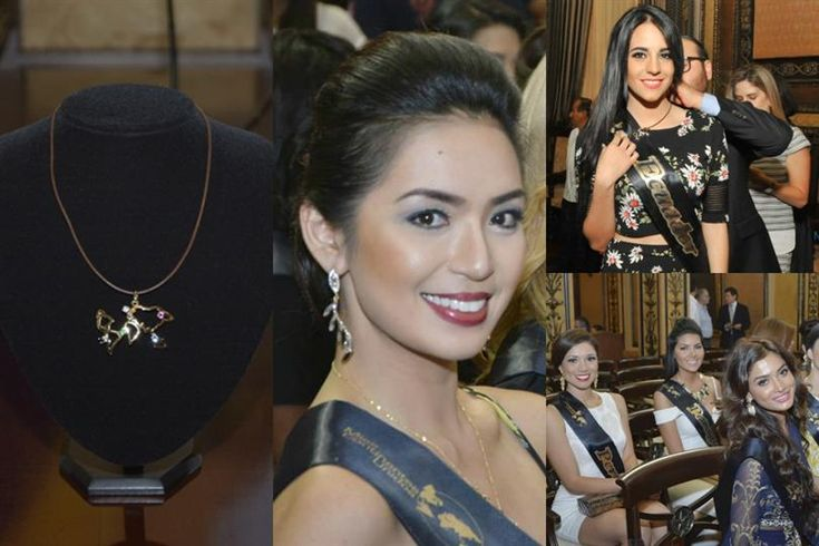 Miss United Continents 2015 contestants visit the city hall of Guayaquil, Ecuador
